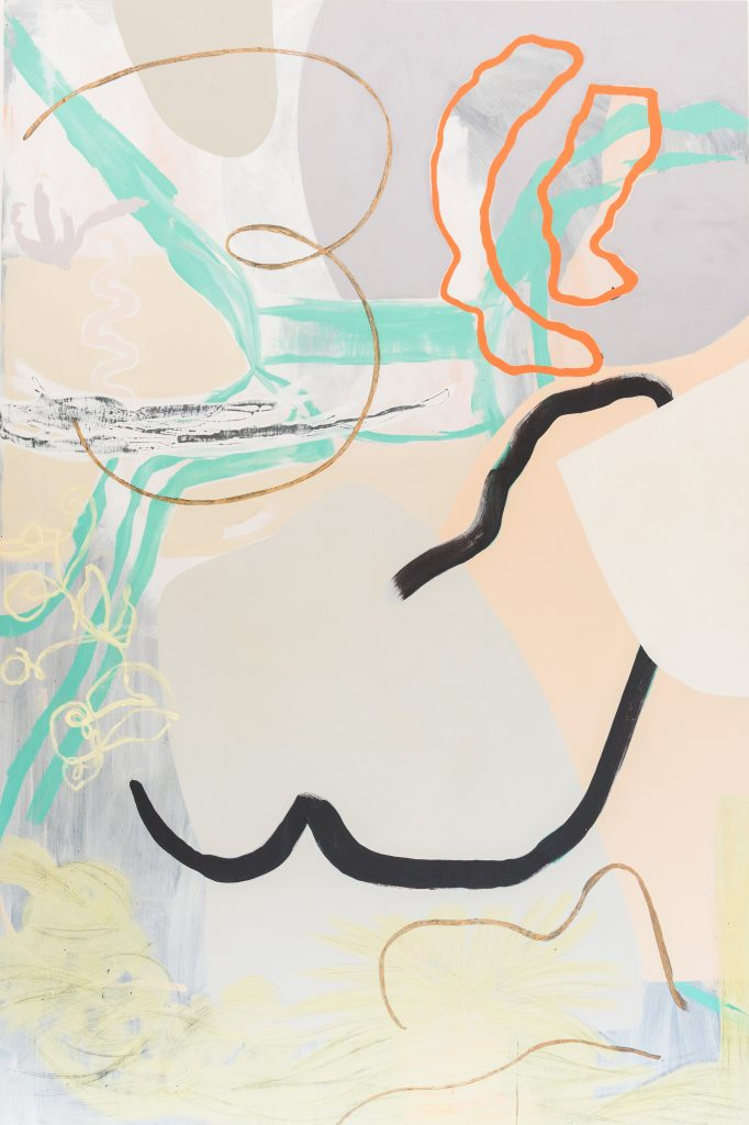abstract painting all your curves and edges, by Kitty Hillier