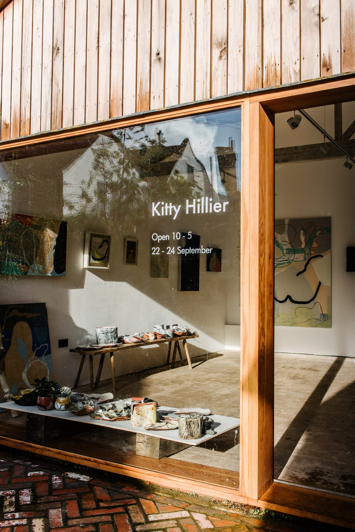 Kitty Hillier paintings ceramics At The Space Caro, Bruton