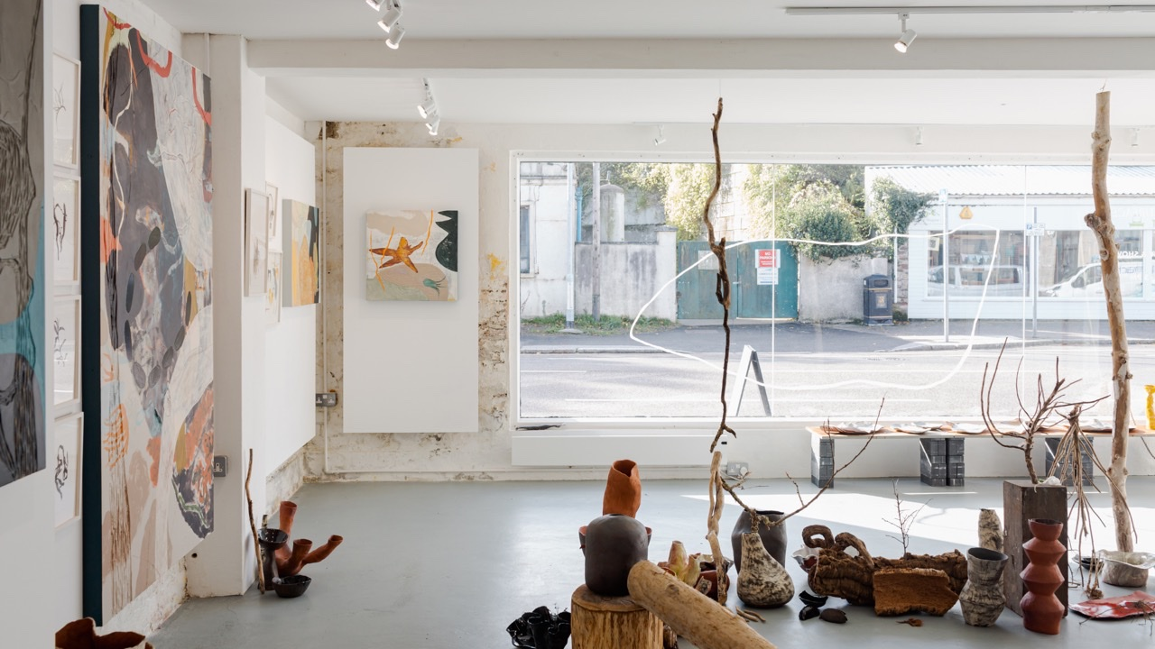 Abstract paintings and installation by Kitty Hillier